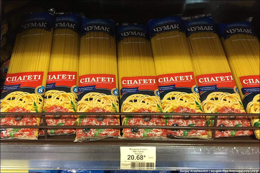 Цены в украинском супермаркете