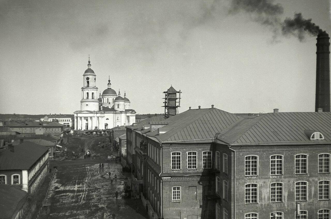1890-е. Егорьевск. Фабричные корпуса и собор Успения Пресвятой Богоматери