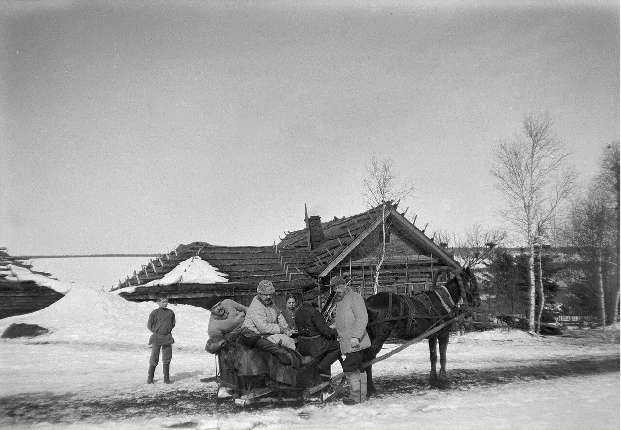 1897. Выезд на зимнюю охоту на лис