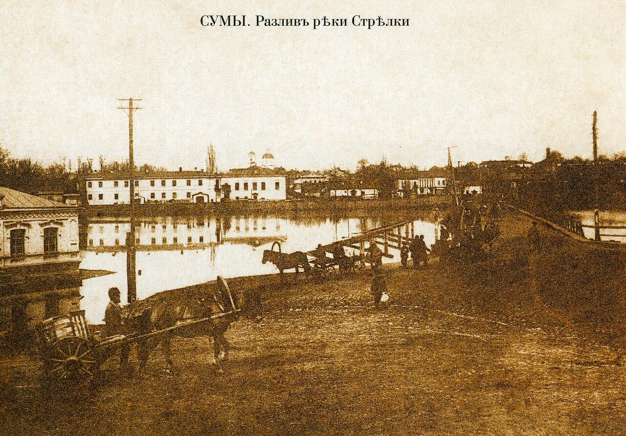 Разлив р. Стрелки у Писаревского моста