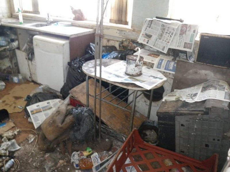 Дом супругов, где они жили с 14 кошками и 2 собаками