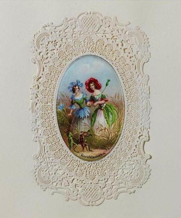 виды старинные кружевные открытки превращают женщину кокетку