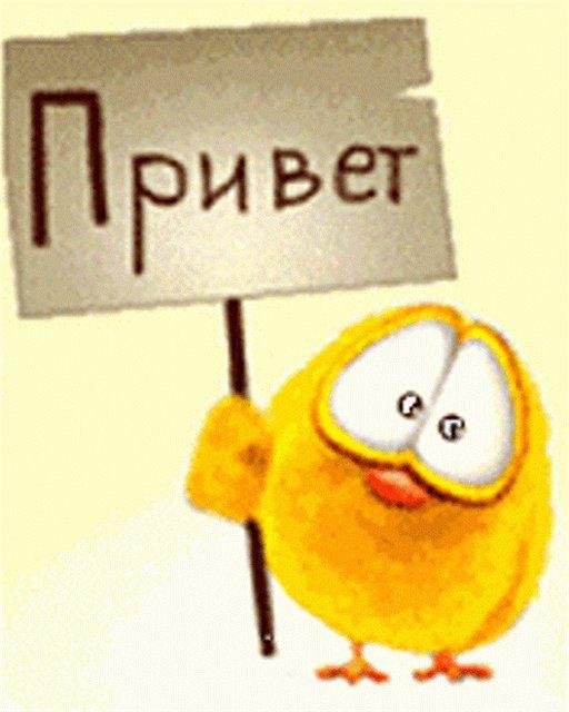 Открытки. Международный день приветствий. На плакатике надпись Привет