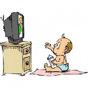 Открытки. С Всемирным днём телевидения. Ребенок смотрит телевизор открытки фото рисунки картинки поздравления
