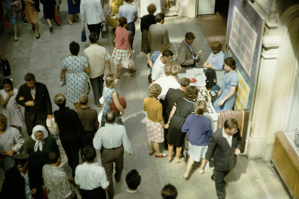 Russia, people shopping at GUM Department Store in Moscow