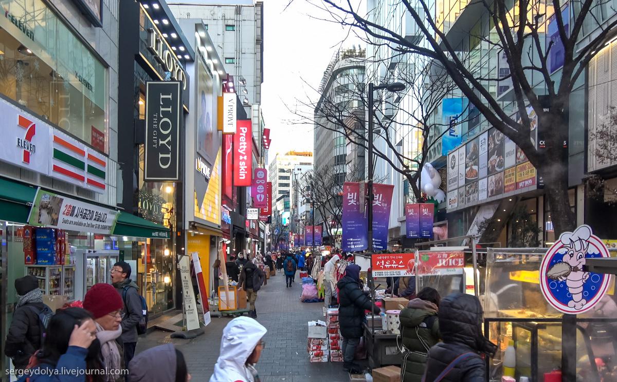 вкусное Сеул уличная еда Южная Корея