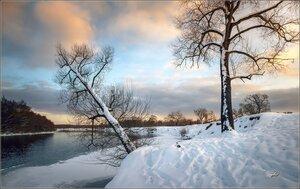 Морозный вечер у реки