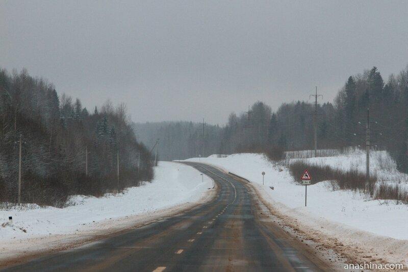 Зимняя дорога, Вологодская область