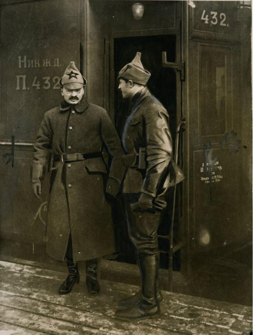 1921. Лев Троцкий в Петрограде