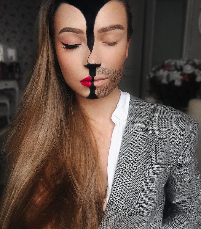 Яркие иллюзии на лице визажиста-самоучки из Литвы
