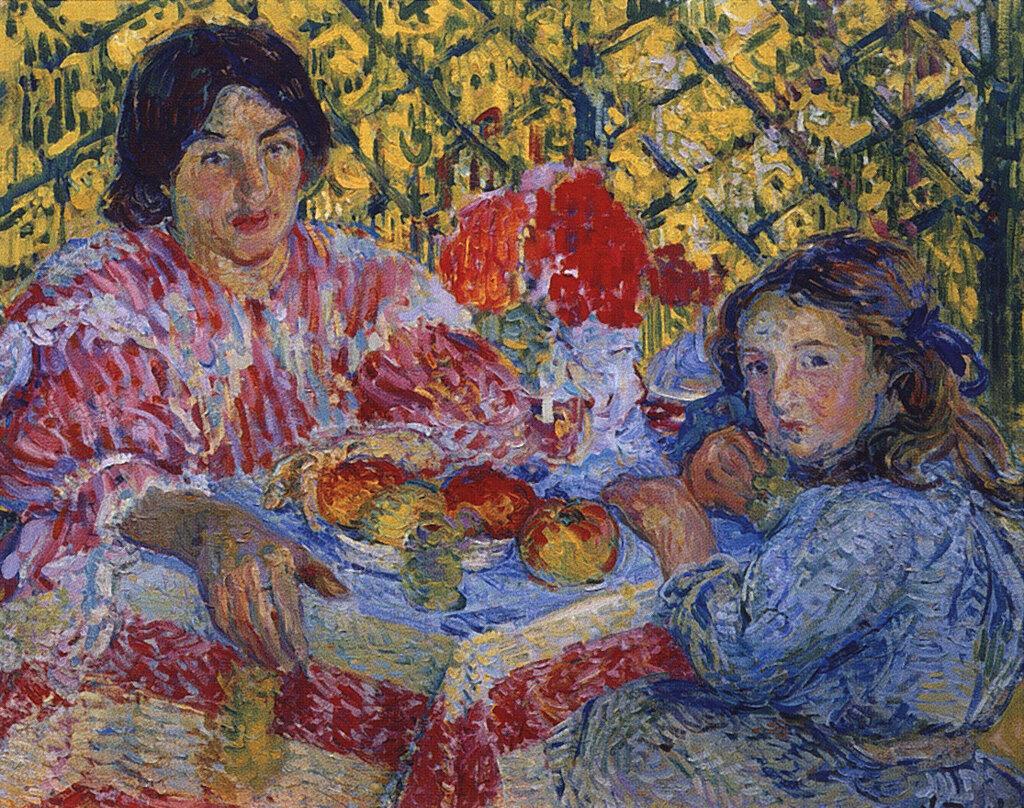 За завтраком. 1906  Тархов