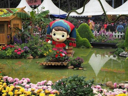 """Гонконг """"Парк Виктория"""" - цветочное шоу"""