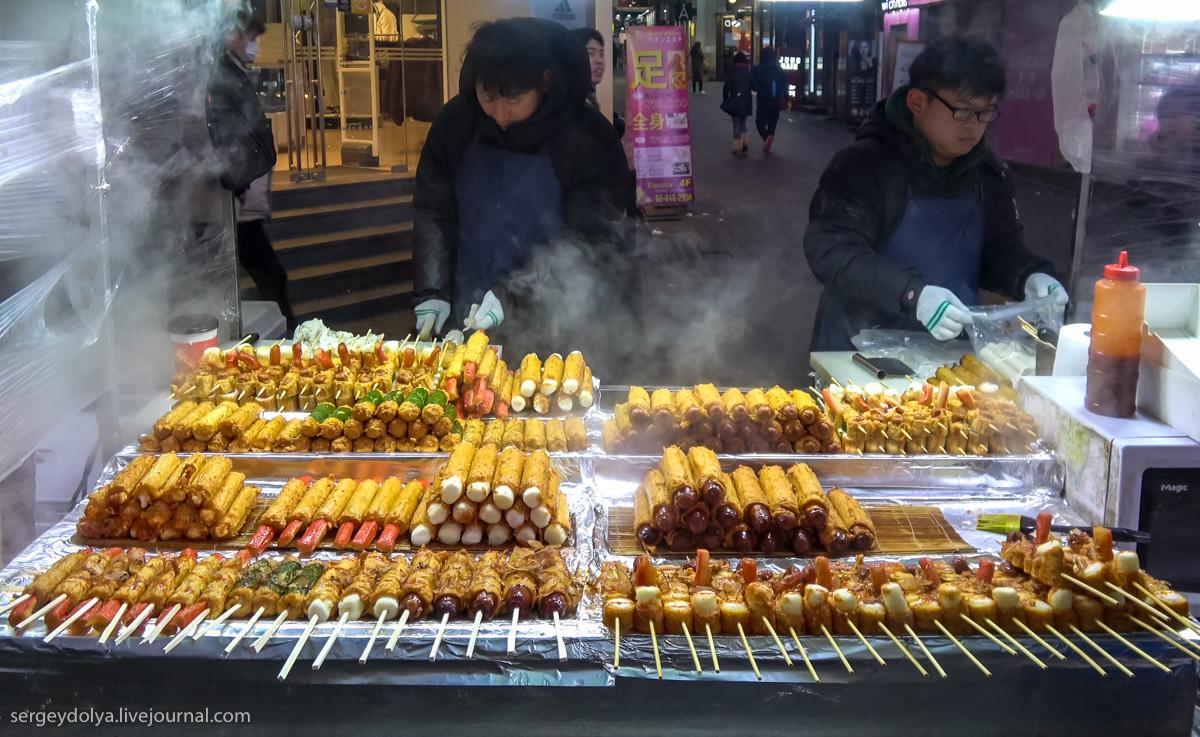 Ни одна собака не пострадала: что попробовать из уличной еды в Сеуле (30 фото)