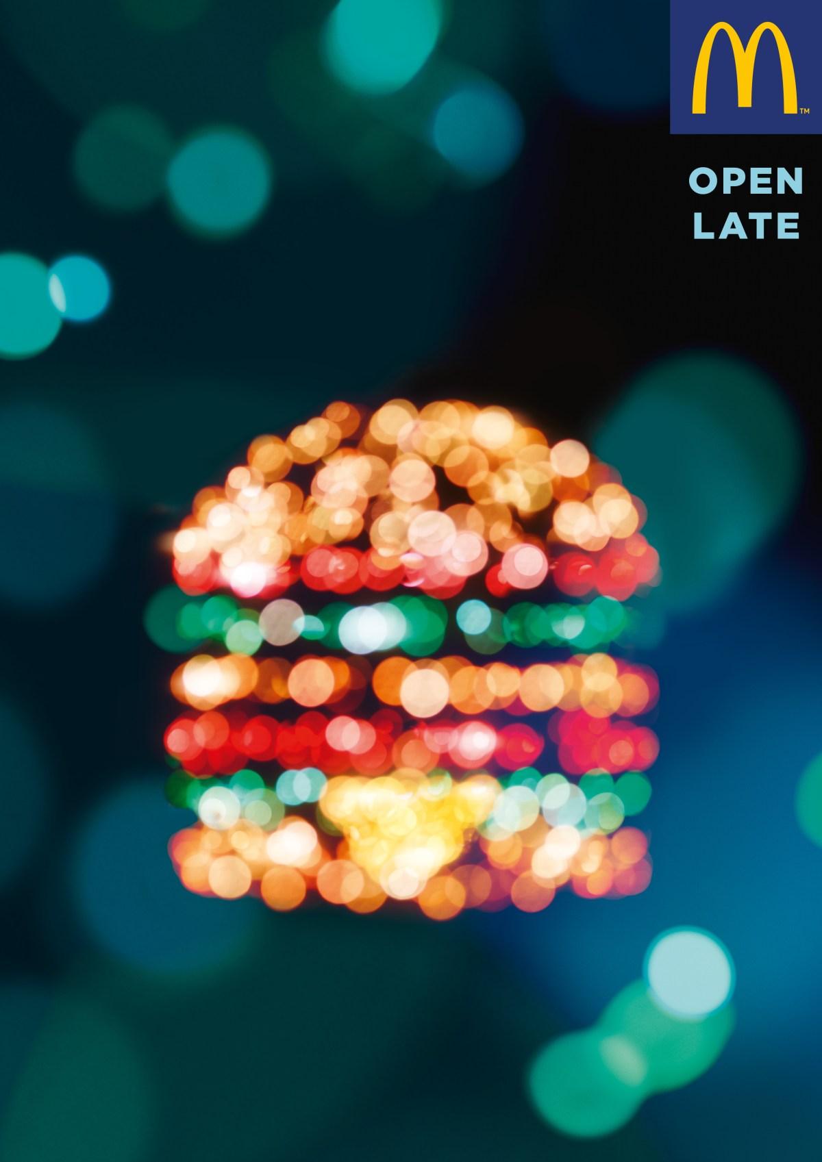 LEDs iluminam novos cartazes do McDonald's