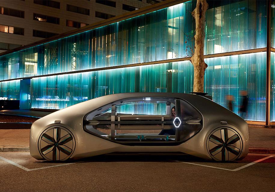 Renault привез вЖеневу автономное такси будущего влице концепта EZ-GO