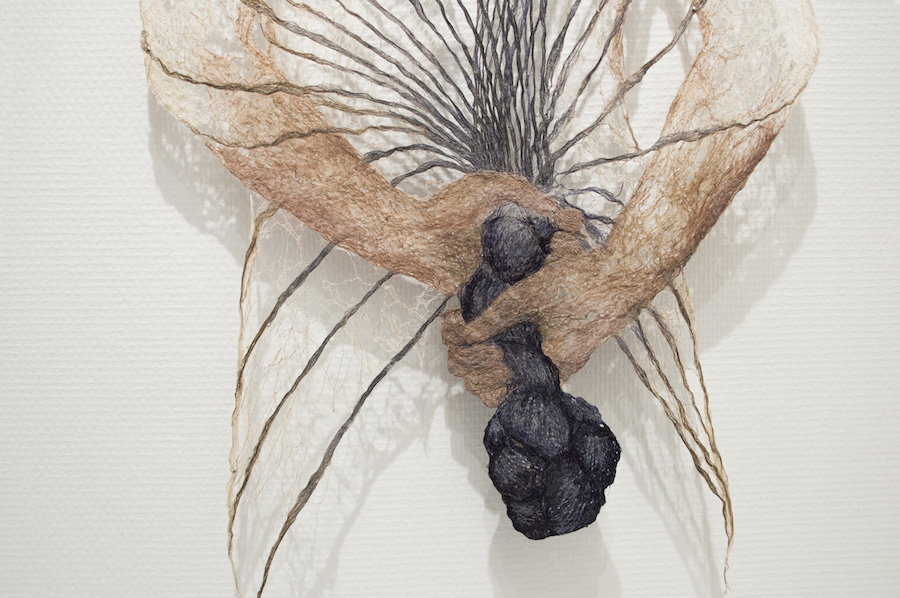 Delicate Fibrous Body Sculptures