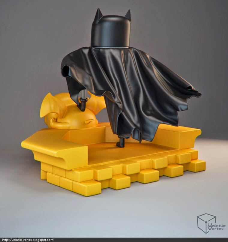 Adventure Time x Batman – Some awesome art toy concepts by Volatile Vertex