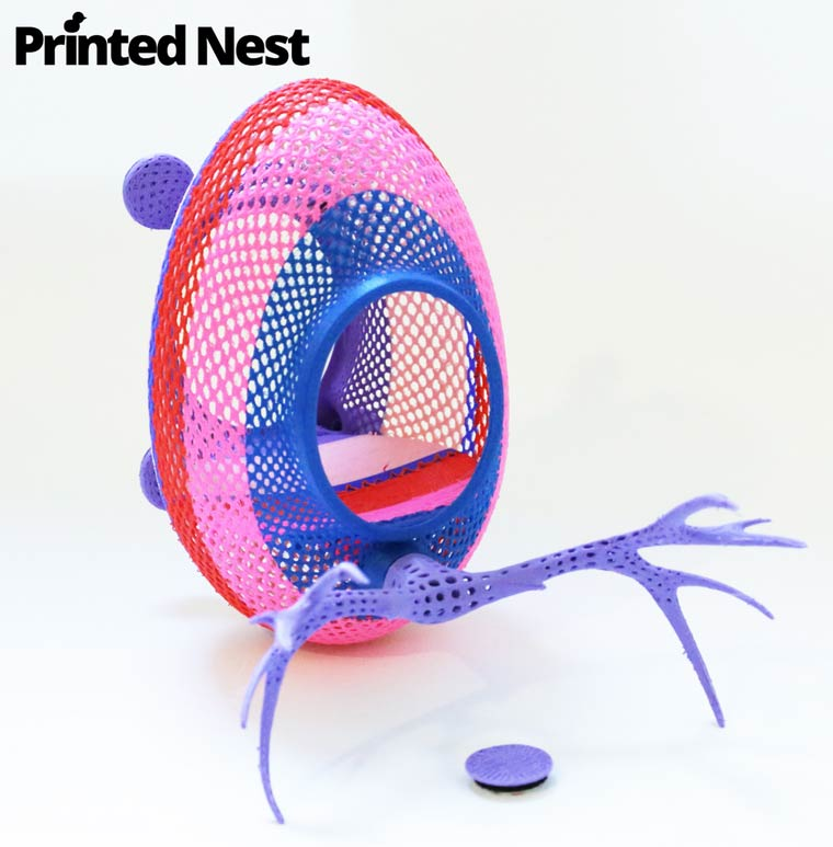 Printednest – A project of 3D printed nests to help bring back birds to cities