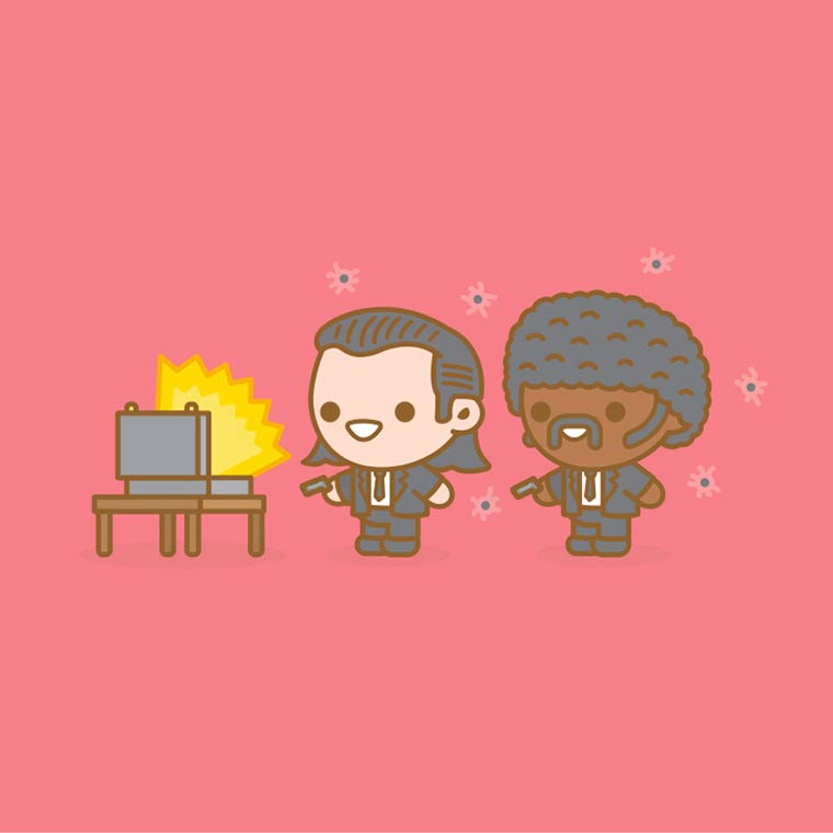 Mass Hysteria – The adorable Pop Culture illustrations of 100% Soft