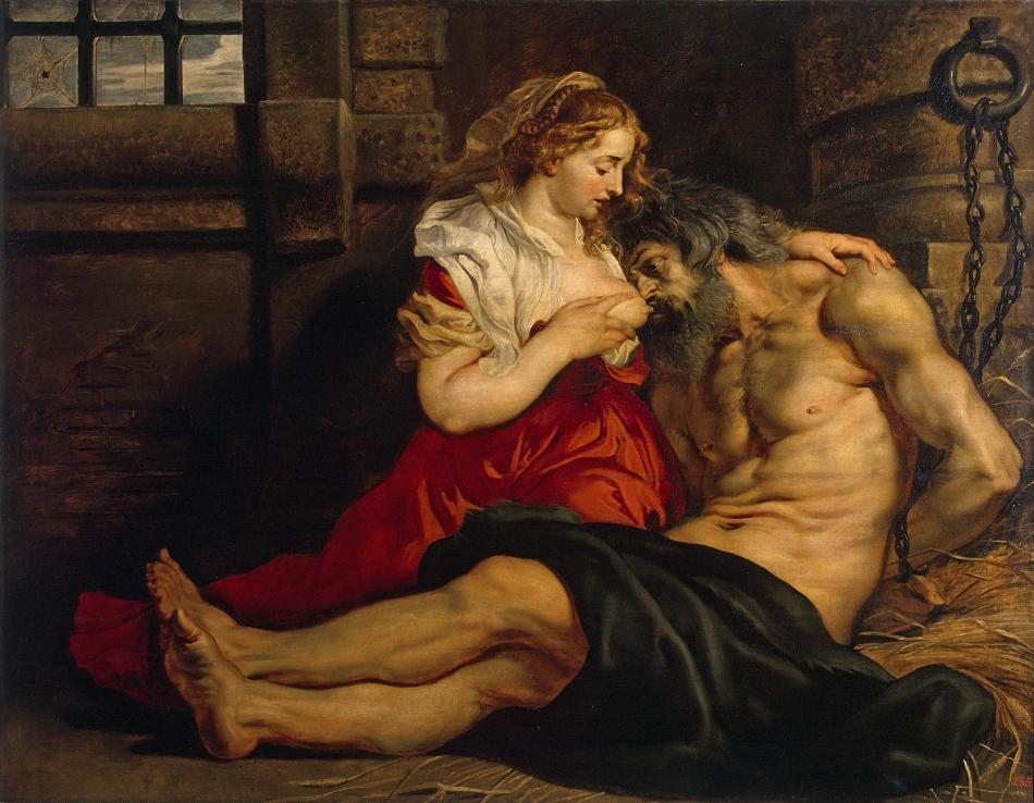 «Отцелюбие римлянки» или эротическая лактация в изобразительном искусстве
