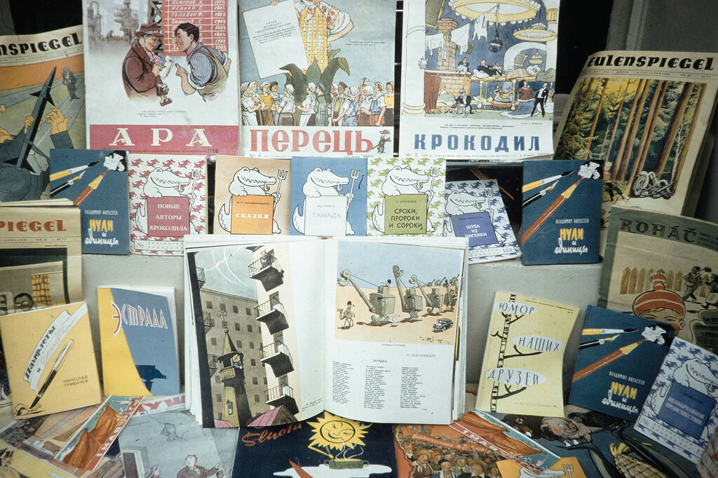 Russia, display of children's books for sale
