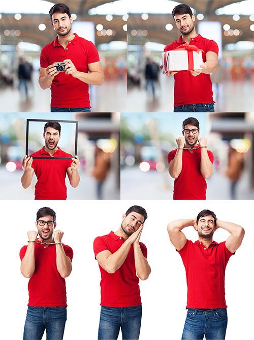 Молодой мужчина веселится - Клипарт / Young man having fun - Clipart