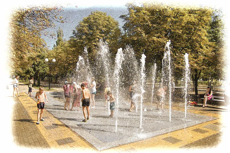 контактный фонтан в Южном парке