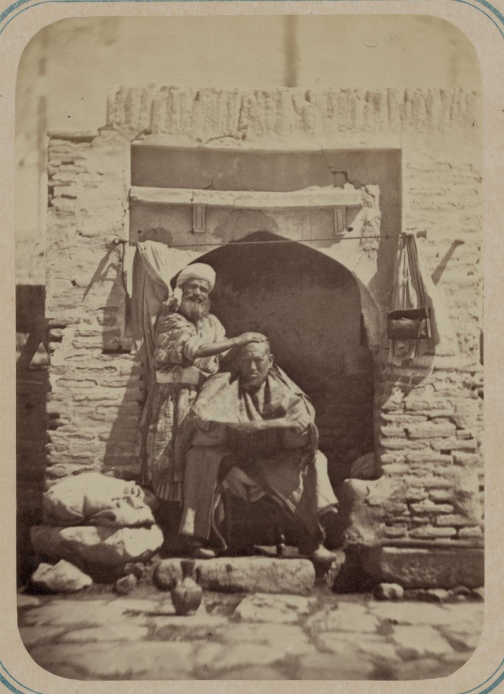 Самаркандский базар и типы торговцев. Цирюльник