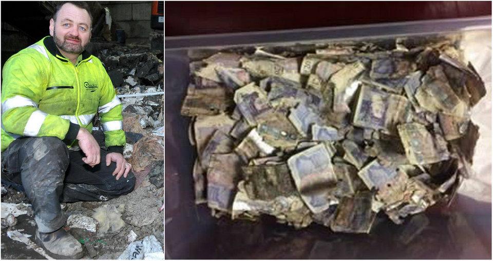 Британский мусорщик нашел £7 000 в отходах