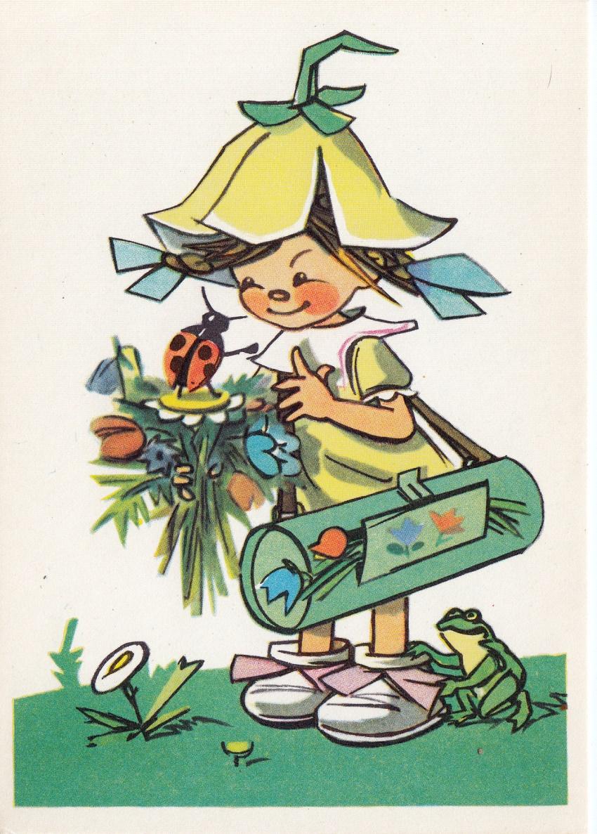 Саймон картинки, дюймовочка открытка