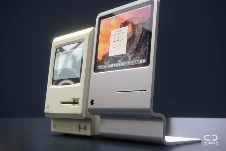 Curved Mac – An excellent concept in tribute to the first Apple Macintosh (12 pics)