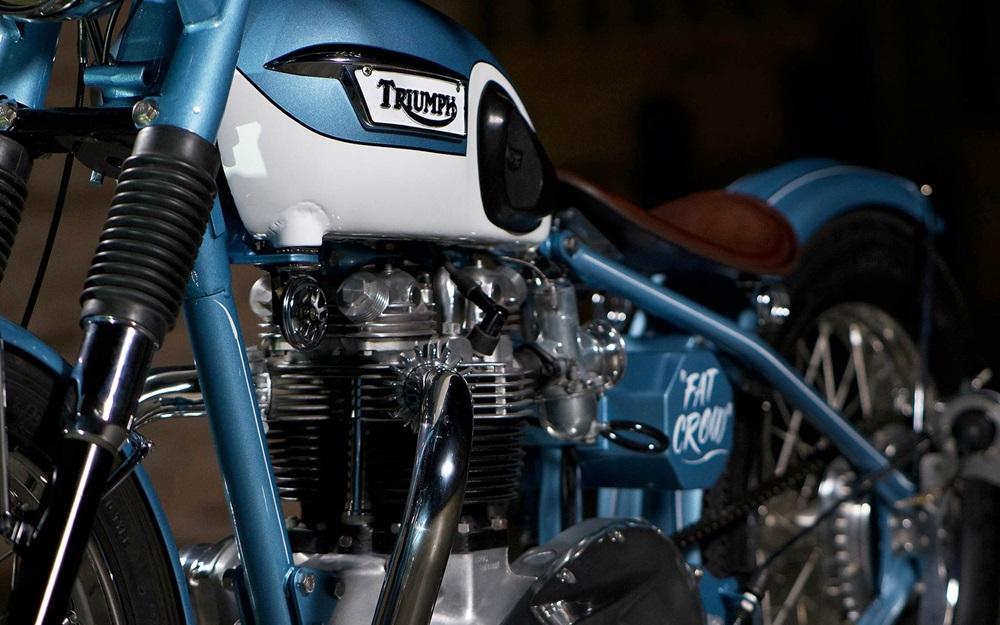 Vintage Steele: Боббер Triumph Bonneville 650 1964