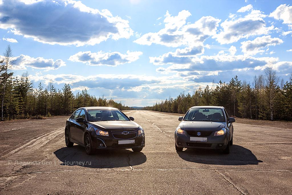 наши машины на аэродроме в Карелии