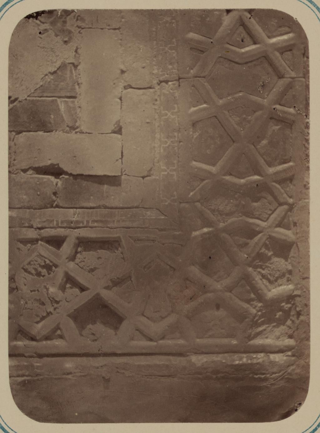 Мавзолей эмира Ассада. Часть элемента (бордюра) фасада