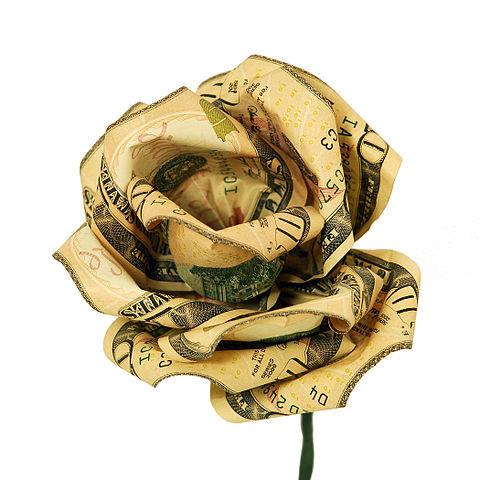 Открытки. День образования Российского Казначейства. Денежный цветок в подарок