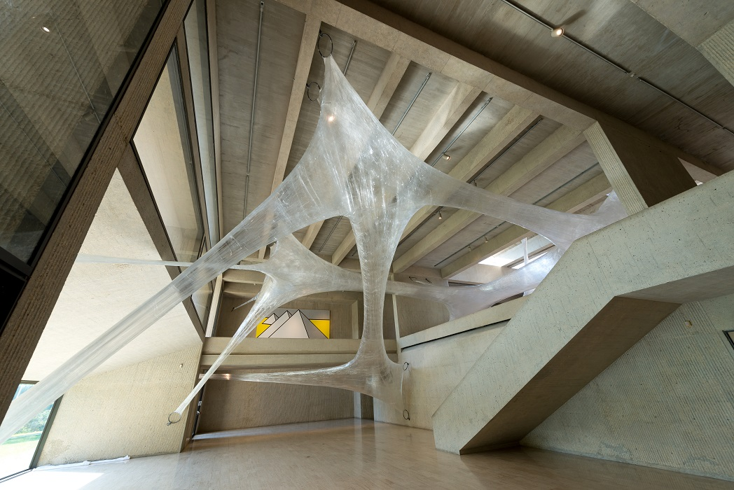 Museum Visitors Invited to Crawl and Slide Inside Massive Suspended Tape Structure