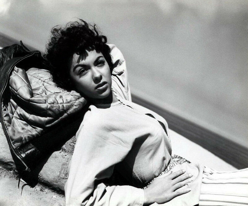 Rita Moreno On Beach In El Alamein By Gereghty, 1953