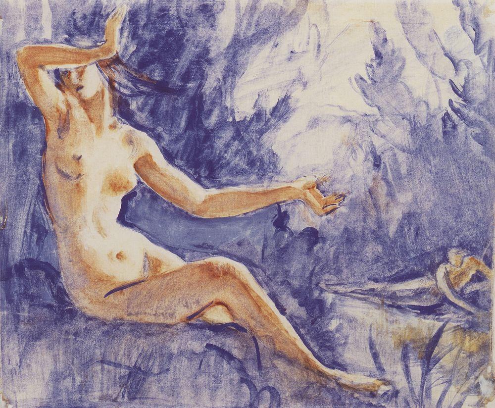 Нарцисс и нимфа Эхо. 1916-1917.jpg