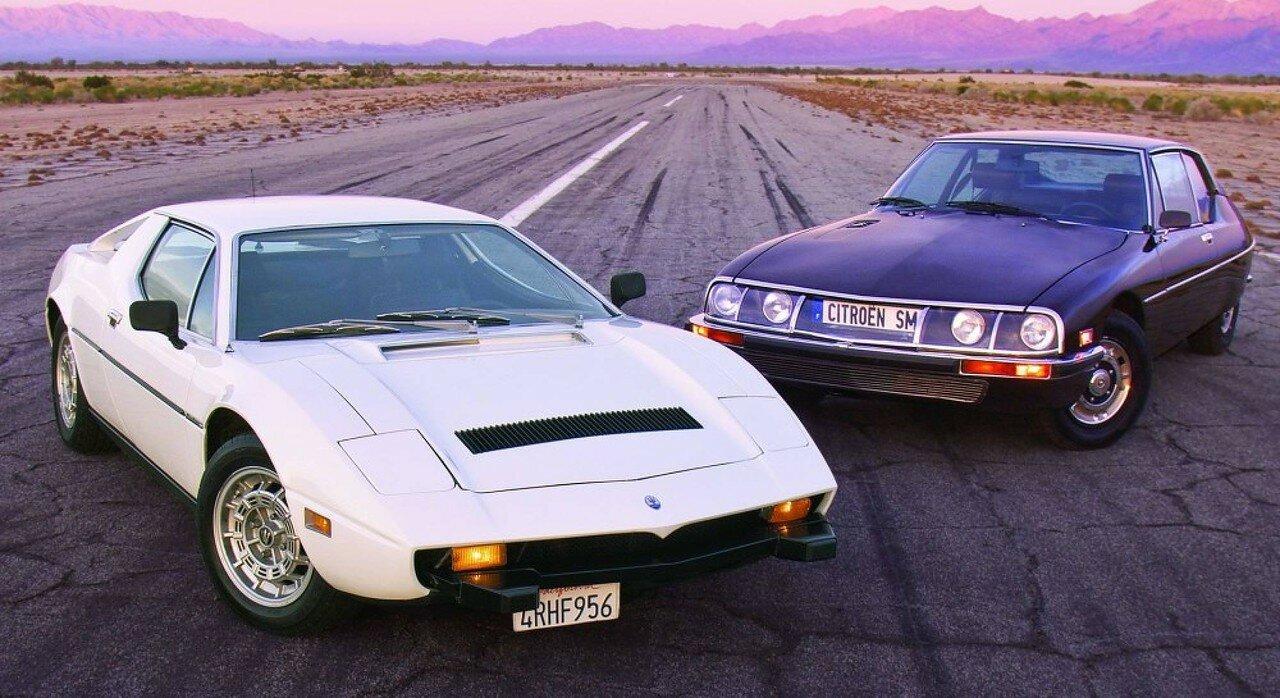 Citroen SM и Maserati Merak