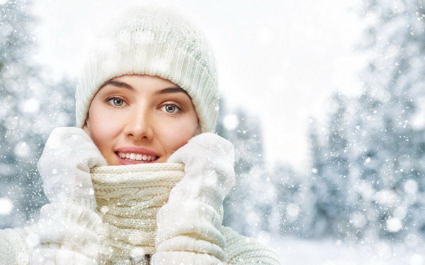 Новый год Девушка Зима