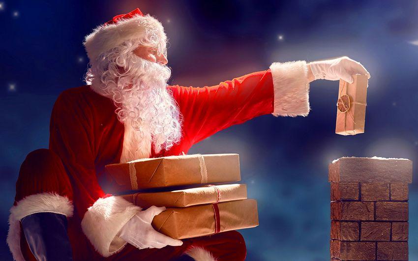 Дед мороз, санта клаус, новый год, подарки