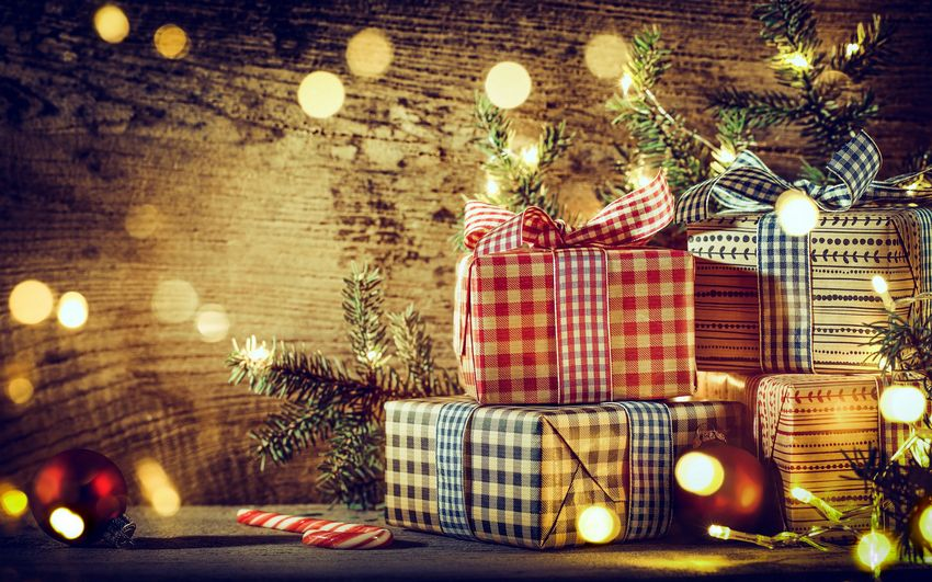 С новым годом, новогодние подарки, картинки, рабочий стол