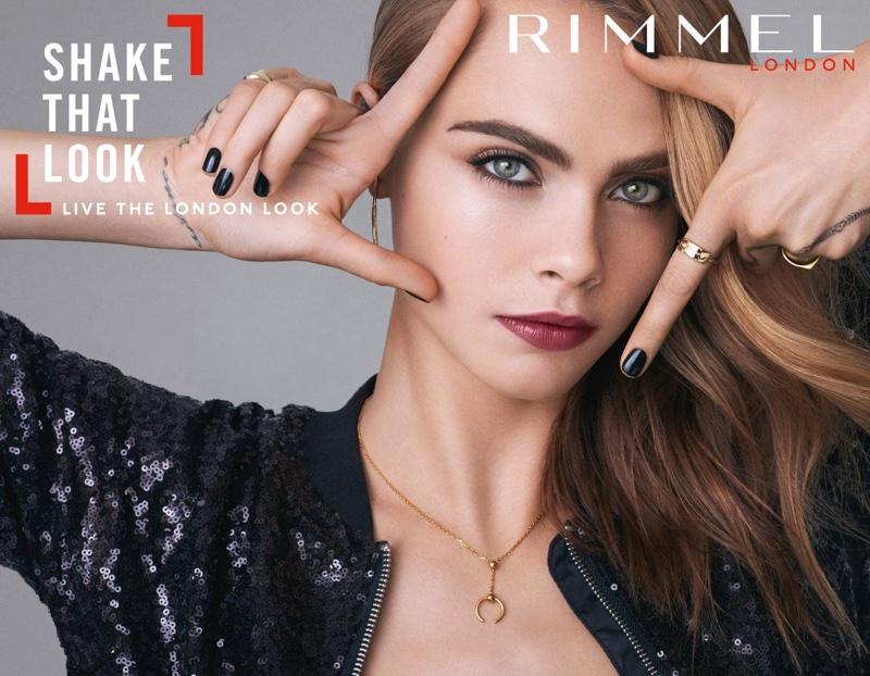 Кара Делевинь в рекламной кампании Rimmel London