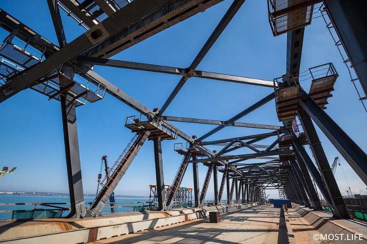 Как идет строительство Крымского моста (12 фото)