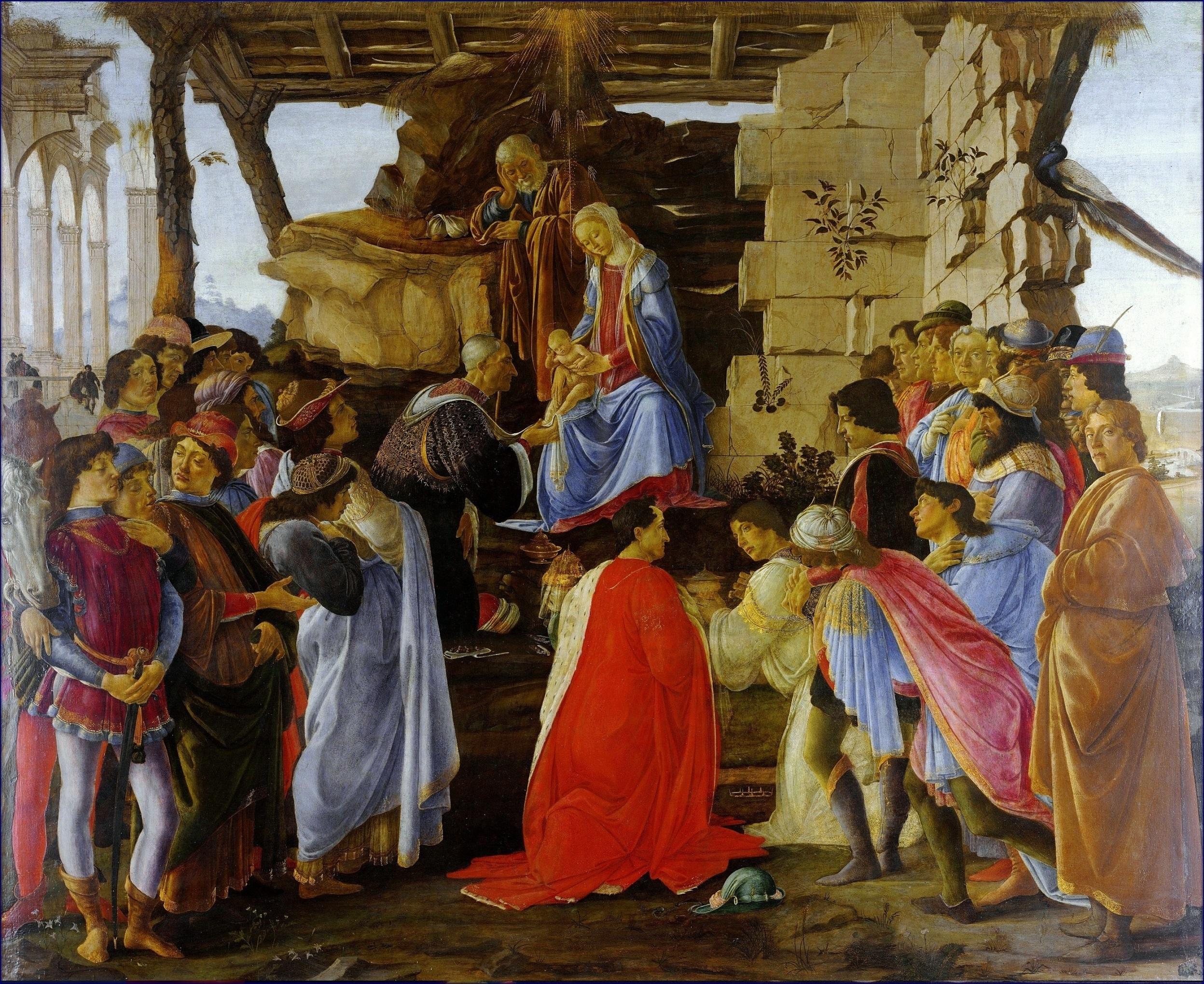 Поклонение волхвов. Алтарь Заноби. Боттичелли.Botticelli Adoration of the Magi....jpg