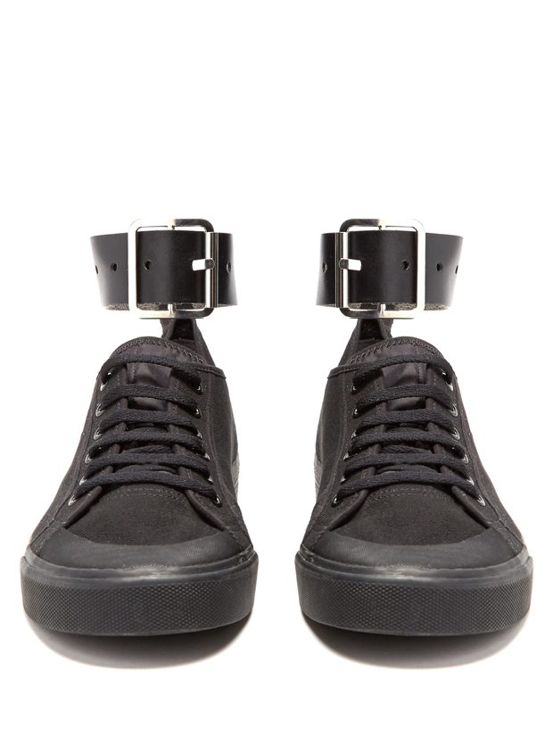 RAF SIMONS X ADIDAS Spirit Buckle low-top canvas trainers