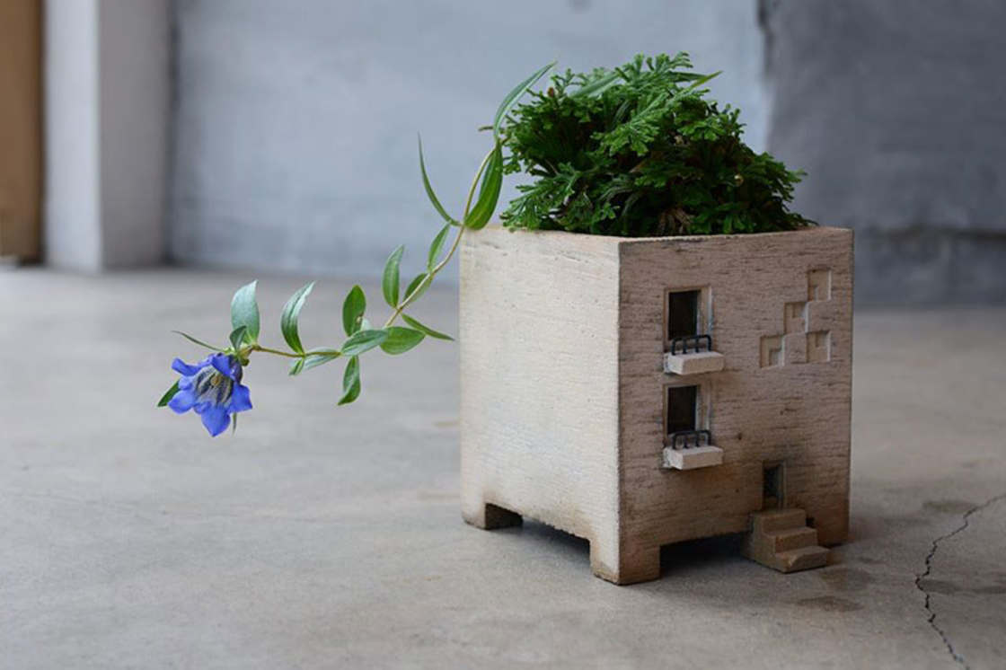 Cute miniature buildings for your plants