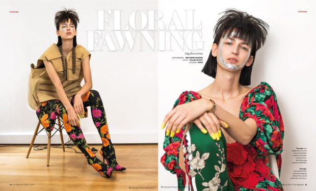 POST Magazine SCMP enlists Polish model Klaudia Mae ( Marilyn Agency ) to star in Floral Fawning sto