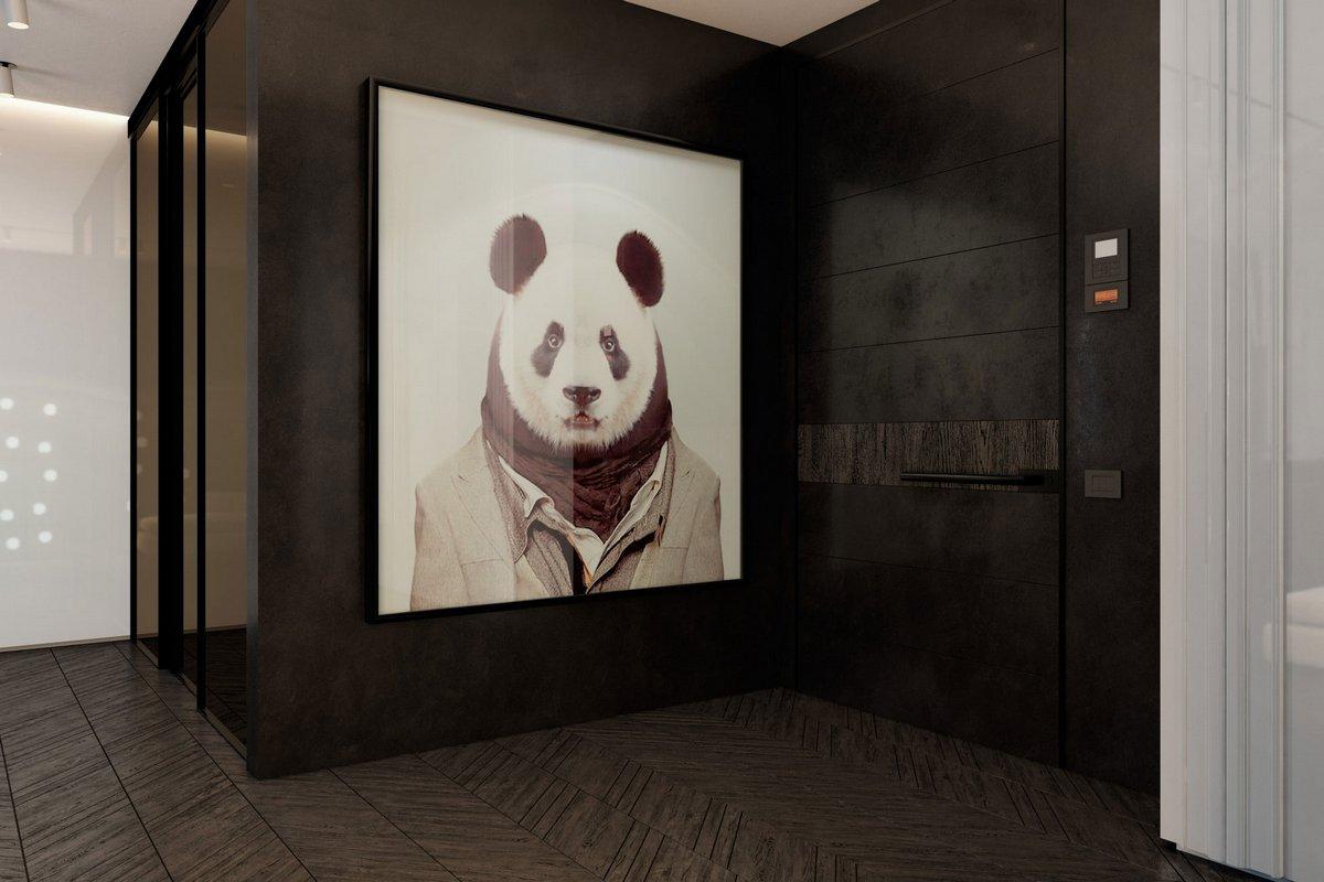 Картина с пандой