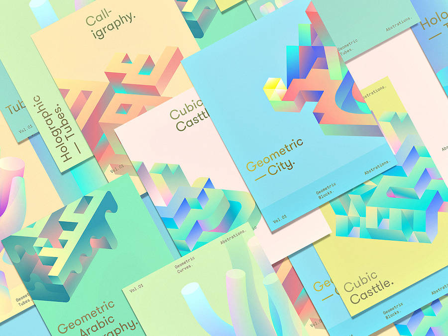 Vibrant & Colorful Twisted Geometry